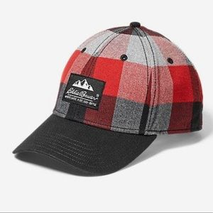 NWT • Eddie Bauer red plaid baseball cap